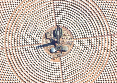 igitalGlobe satellite image of the Ouarzazate Solar Power Station in Morocco.