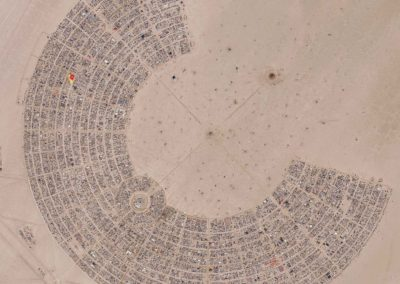 AUGUST 29, 2019: DigitalGlobe Imagery of the 2018 Burning Man Festival in Northwest Nevada.